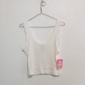SALE🌿 Cropped Lace Trim Tank